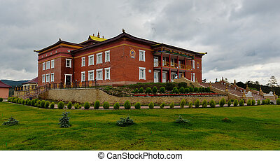 Rinpoche Bagsha Datsan Monastery in Ulan-Ude, Russia. A...