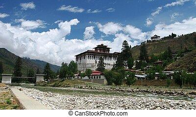 rinpung, dzong, in, paro, bhutan