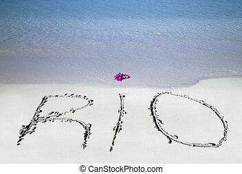 rio, 沙子, 寫