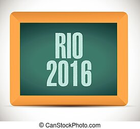 rio 2016 board sign illustration