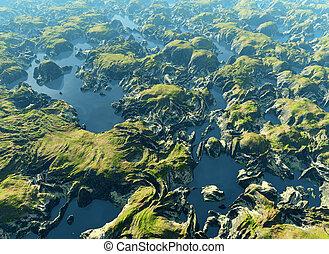 rio amazon, vista olho pássaro