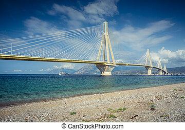 Rio-Antirrio Bridge (Charilaos Trikoupis) in Patras