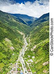 Rio Blanco Tungurahua Aerial Shot