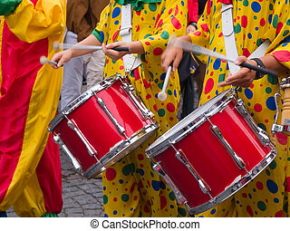 Rio Brasil Samba Cranival music played on drums by...