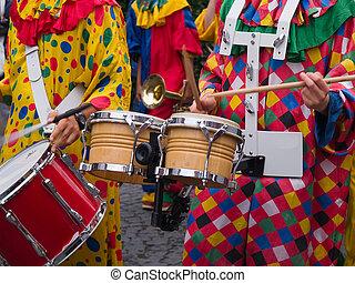 Rio Brasil Samba Cranival music played on drums by...