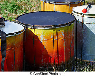 Rio Brazil Samba Cranival Festival music played on drums