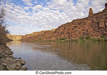 rio cênico, colorado, paisagem