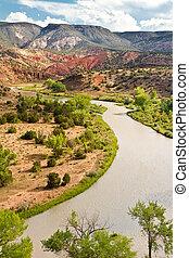 Rio Chama, New Mexico - Rio Chama, north of Abiquiu, New...