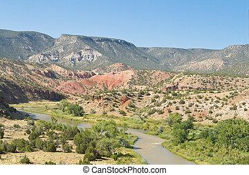 Rio Chama River in Desert North Central New Mexico