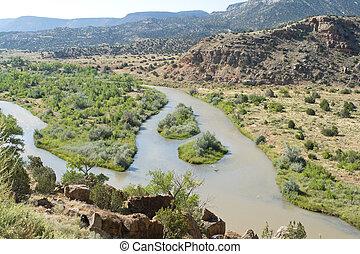 Rio Chama River North Central New Mexico Jemez Mountains