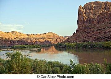 rio colorado, em, utah