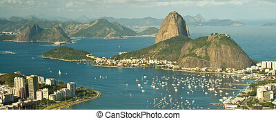 Rio de Janeiro and Bay of Guanabara with the sugar loaf...