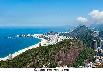Rio de Janeiro, Brazil - July 22, 2014: Copacabana beach...