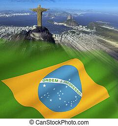 Rio de Janeiro - Brazil - The city of Rio de Janeiro and the...
