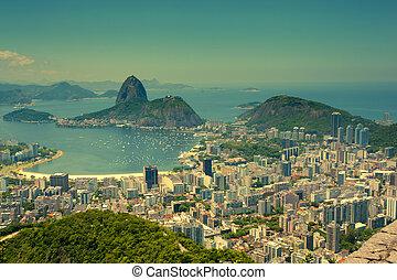 Rio De Janeiro Brazil - views Rio de Janeiro and Sugarloaf ...