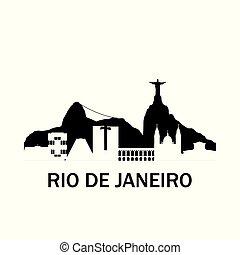 Rio de Janeiro city skyline.