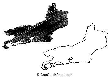 Rio de Janeiro map - Rio de Janeiro (Region of Brazil,...