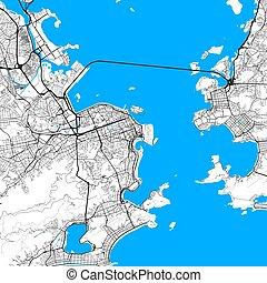 Rio de Janeiro map. Vector outline version high-quality in...