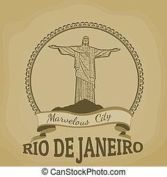 Rio de Janeiro (Marvelous City) vintage poster