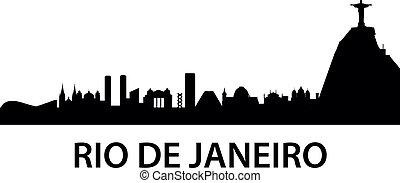 Rio de Janeiro Skyline - detailed illustration of Rio de...