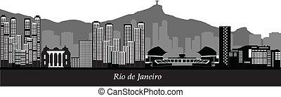 rio de janeiro skyline - rio de janeiro brasil city skyline