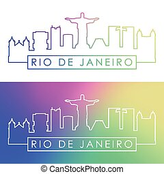 Rio De Janeiro skyline.