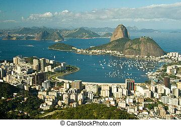 Rio de Janeiro - A view over the city of Rio de Janeiro in...