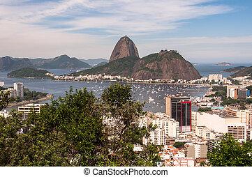 Rio de Janeiro View and Sugarloaf Mountain - Botafogo...