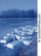 rio, gelo