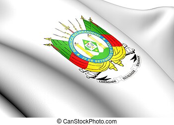 Rio Grande do Sul Coat of Arms, Brazil.