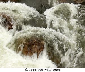 Rio Hollin - Running through rainforest in the Ecuadorian...
