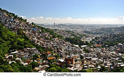 rio, janeiro, ellen-, favela