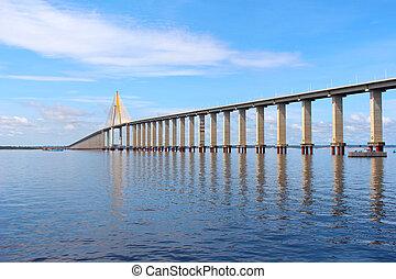 Rio Negro Bridge , Manaus, Amazonas Brazil - Rio Negro...
