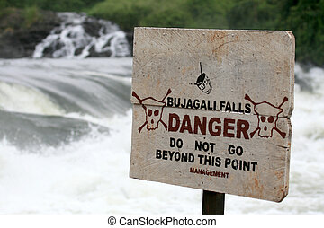 rio nilo, -, bujagali, quedas, +, rio, em, uganda, áfrica