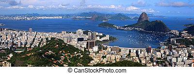 Rio panorama - Panoramic view of Rio De Janeiro, Brazil...