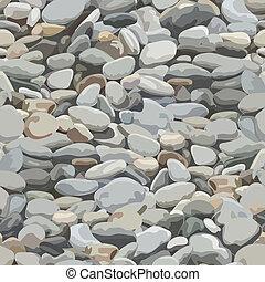 rio, pedra, fundo