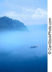 Rio, pesca, bote