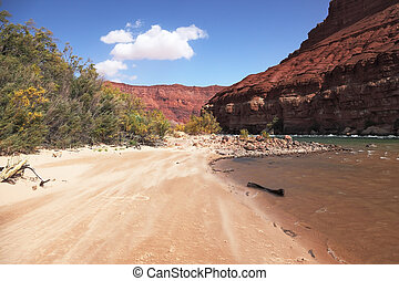 rio, praia, colorado, arenoso