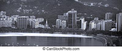 rio, prospekt, panoramiczny