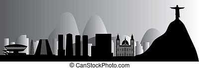 Rio skyline vector