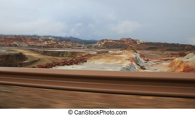 Rio Tinto mine - Copper mine open pit in Rio Tinto, car...