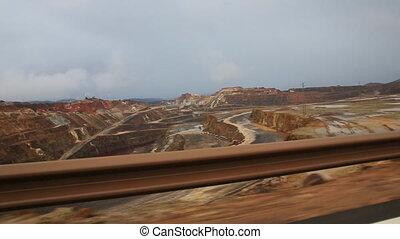 Rio Tinto mine - Copper mine open pit in Rio Tinto, car...
