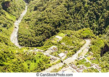 Rio Verde Tungurahua Aerial Shot