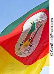 rio, vlag, sul, staat, grande