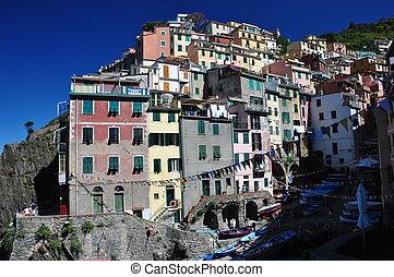 Riomaggiore, Cinque Terre, Italy - Riomaggiore fishermen...