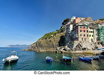Riomaggiore, Cinque Terre - Riomaggiore in the national park...