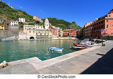 Riomaggiore in Cinque Terre, Italy.