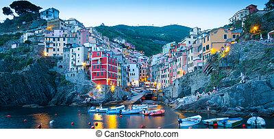 Riomaggiore in Cinque Terre, Italy - Summer 2016 - Sunset...