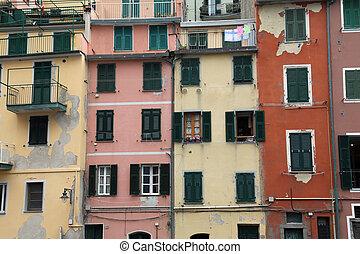 Riomaggiore, Italy - Riomaggiore, one of the Cinque Terre...
