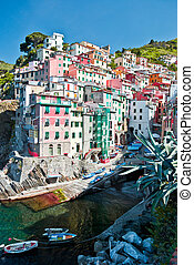 Riomaggiore, Tuscany, Italia - The Italian seaside village...